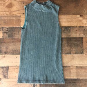 Free People No Looking Back Washed Cami M/L Blue